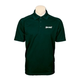 Dark Green Textured Saddle Shoulder Polo-Maine Machias Clippers