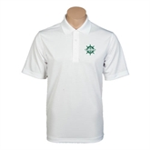White Mini Stripe Polo-UMM Ships Wheel