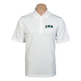 White Mini Stripe Polo-Arched UMM