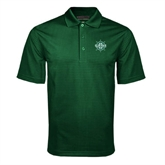 Dark Green Mini Stripe Polo-UMM Ships Wheel