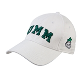 White Heavyweight Twill Pro Style Hat-Arched UMM