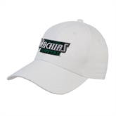 White Heavyweight Twill Pro Style Hat-Maine Machias Clippers