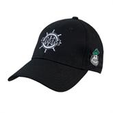Black Heavyweight Twill Pro Style Hat-UMM Ships Wheel