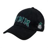 Black Heavyweight Twill Pro Style Hat-Arched UMM