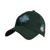 Dark Green Heavyweight Twill Pro Style Hat-UMM Ships Wheel