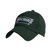 Dark Green Heavyweight Twill Pro Style Hat-Maine Machias Clippers
