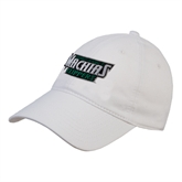 White Twill Unstructured Low Profile Hat-Maine Machias Clippers