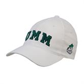 White Flexfit Structured Low Profile Hat-Arched UMM