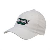 White Flexfit Structured Low Profile Hat-Maine Machias Clippers