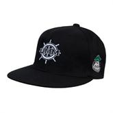 Black OttoFlex Flat Bill Pro Style Hat-UMM Ships Wheel