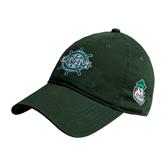 Dark Green Twill Unstructured Low Profile Hat-UMM Ships Wheel
