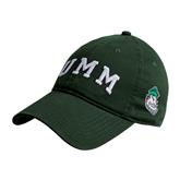 Dark Green Twill Unstructured Low Profile Hat-Arched UMM