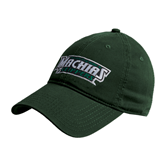 Dark Green Twill Unstructured Low Profile Hat-Maine Machias Clippers