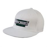 White OttoFlex Flat Bill Pro Style Hat-Maine Machias Clippers