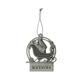 Pewter Sleigh Ornament-University of Maine Machias Engraved