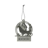 Pewter Sleigh Ornament-University of Maine Machias Engraved