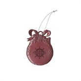 Pink Bulb Ornament-UMM Ships Wheel Engraved