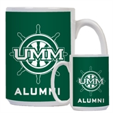 Alumni Full Color White Mug 15oz-UMM Ships Wheel