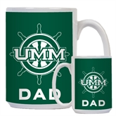 Dad Full Color White Mug 15oz-UMM Ships Wheel