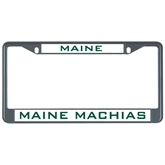 Metal License Plate Frame in Black-Maine
