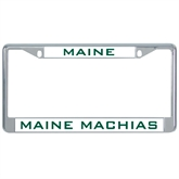 Metal License Plate Frame in Chrome-Maine