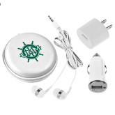3 in 1 White Audio Travel Kit-UMM Ships Wheel