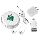 3 in 1 White Audio Travel Kit-UMM Ships Wheel