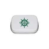 White Rectangular Peppermint Tin-UMM Ships Wheel