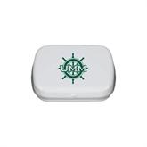 White Rectangular Peppermint Tin-UMM Ships Wheel