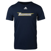 Adidas Navy Logo T Shirt-Wordmark