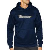 Adidas Navy Team Issue Hoodie-Wordmark