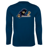 Performance Navy Longsleeve Shirt-Mascot