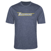 Performance Navy Heather Contender Tee-Wordmark