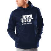 Under Armour Navy Armour Fleece Hoodie-Volleyball