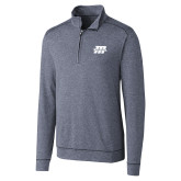 Cutter & Buck Shoreline Navy 1/2 Zip-Primary Mark