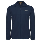 Fleece Full Zip Navy Jacket-Wordmark