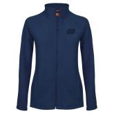 Ladies Fleece Full Zip Navy Jacket-Primary Mark