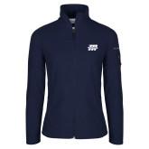 Columbia Ladies Full Zip Navy Fleece Jacket-Primary Mark