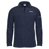 Columbia Full Zip Navy Fleece Jacket-Wordmark