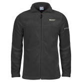 Columbia Full Zip Charcoal Fleece Jacket-Wordmark