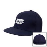 Navy OttoFlex Flat Bill Pro Style Hat-Primary Mark