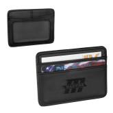 Pedova Black Card Wallet-Primary Mark Engraved
