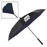 48 Inch Auto Open Black/Navy Inversion Umbrella-Primary Mark