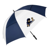 62 Inch Navy/White Vented Umbrella-Mascot