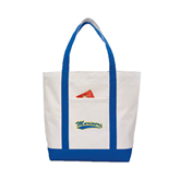 Contender White/Royal Canvas Tote-Mariners Script