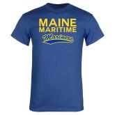Royal T Shirt-Maine Maritime Mariners w/ Mariners Script