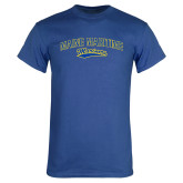 Royal T Shirt-Arched Maine Maritime w/ Mariners Script