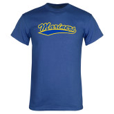 Royal T Shirt-Mariners Script Distressed