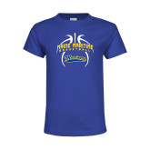 Youth Royal T Shirt-Basketball in Ball
