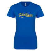 Next Level Ladies SoftStyle Junior Fitted Royal Tee-Mariners Script